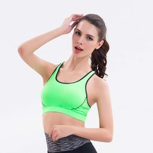 2016 Hot Top Professional Absorb Sweat Athletic Running Sports Bra Gym Fitness Women Seamless Padded Vest Tanks Yoga Underwearn