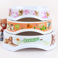 1 Piece Pets Food Meal Bowl Dogs And Cats Egg Shape Melamine Feeding Bowls Pets White