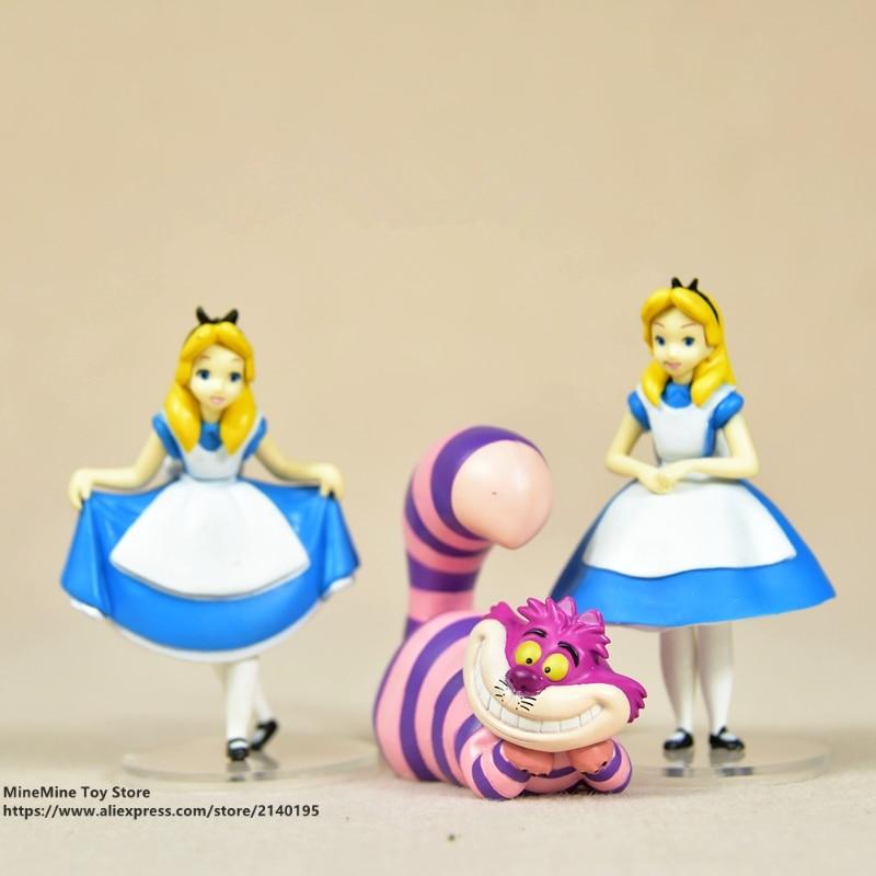 ZXZ Alice in Wonderland 3pcs/set 7-9cm Action Figure Anime Mini Decoration PVC Collection Figurine Toy model for childrenZXZ Alice in Wonderland 3pcs/set 7-9cm Action Figure Anime Mini Decoration PVC Collection Figurine Toy model for children