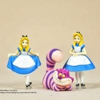 ZXZ Alice in Wonderland 3pcs/set 7 9cm Action Figure Anime Mini Decoration PVC Collection Figurine Toy model for children