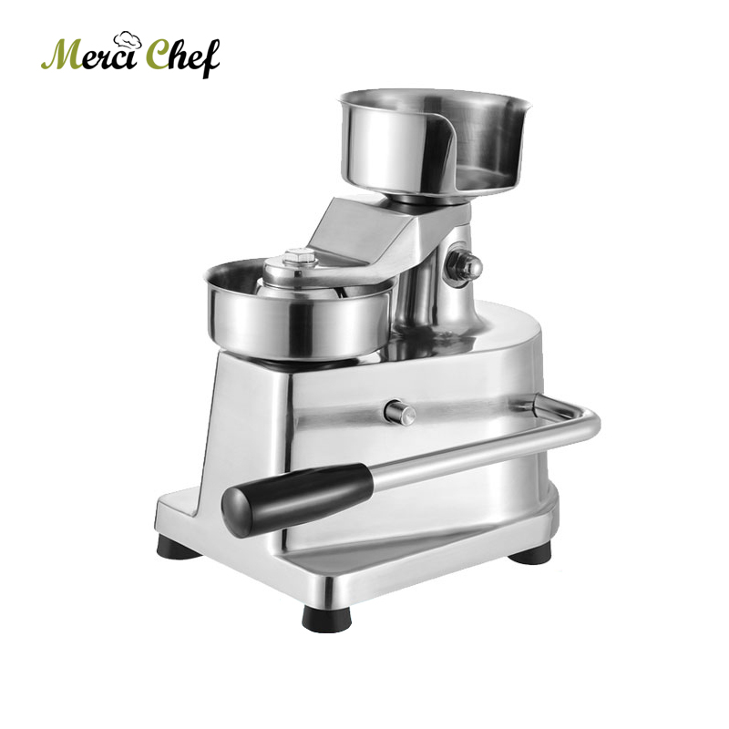 ITOP Manual Hamburger Press Burger Forming Machine Aluminum Round Meat Shaping Machine Meat Patty Makers With 500Pcs Oil Paper