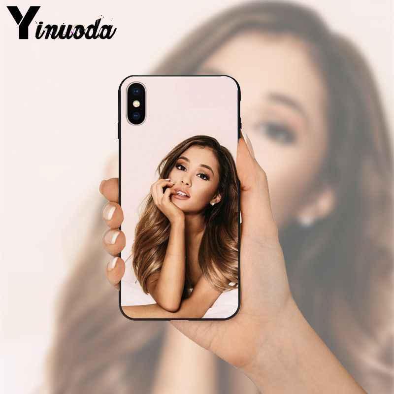 Yinuoda Ariana Grande สีดำนุ่มโทรศัพท์สำหรับ iPhone 8 7 6 6S Plus 5 5S SE XR X XS MAX Coque Shell