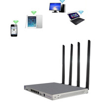 Openwrt 1200Mbps Draadloze Router 802.11AC Dual Band Wireless Wifi Repeater Door Muur Router 4 * 7dBi Antenne USB2.0 Interface