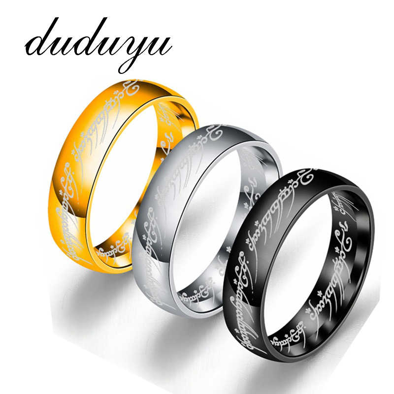 2019 Midi Stainless Steel One Ring of Power Gold the Lord of Ring Lovers Women Men Fashion Hobbit 316l Jewelry Hot Sale