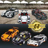 New LEPIN 20001 20001B 2704Pcs Technic Series 911 GT3 RS Race Car Model Building Kits Blocks