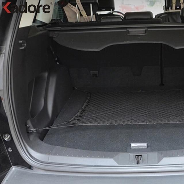 For Toyota Prius Black Nylon Rope Material Rear Trunk Cargo Net 1pc Set Storage Luggage Holder Internal Car Decoration