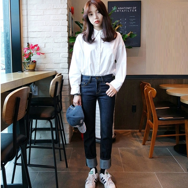ecb1303b47d655 Cotton White Shirt Women Long Sleeve Button Down Loose Casual Sheer White  Shirts Blouse For Ladies Female Big Size Tops on Aliexpress.com | Alibaba  Group