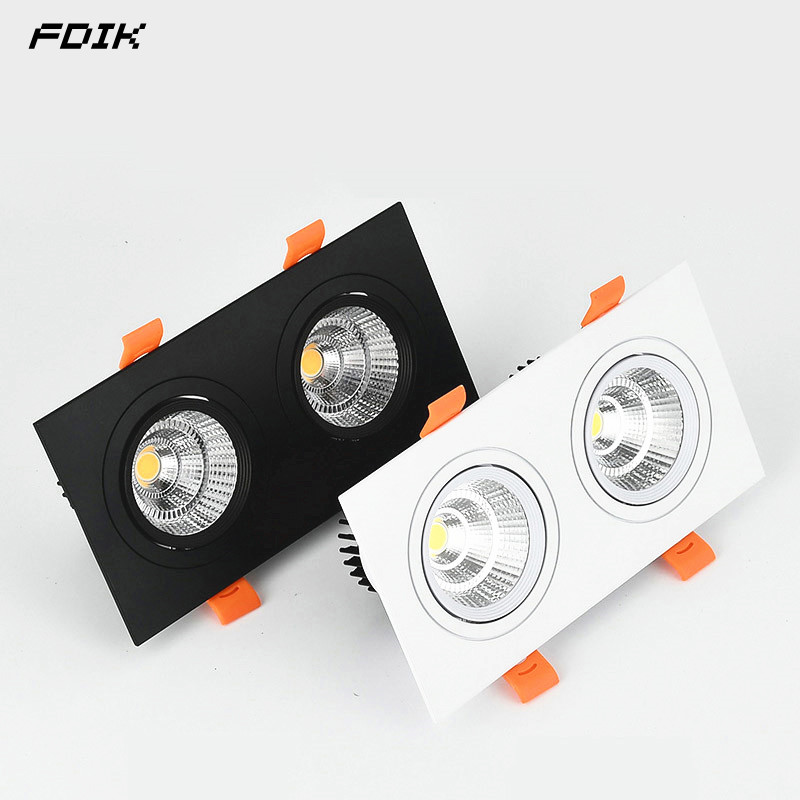 Dimmable Recessed COB LED Downlights 10W20W LED Ceiling Spot Lights AC85-265V LED Ceiling Lamps Warm Cold White Indoor Lighting