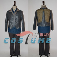 Hot TV The Walking Dead Daryl Dixon Outfit Pleather Jacket Dark Blue Shirt For Men Halloween