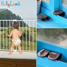 цена на Sliding Sash Stopper Cabinet Locks & Straps Doors Security Anti-theft Lock Window Sliding Door Baby Safety Lock Child Safety