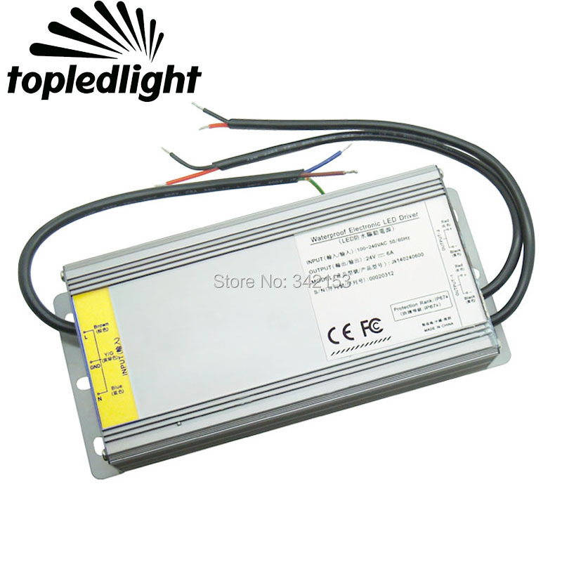 144W DC24V 6A AC100-240V Portable Lighting Transformer Switching Power Supply Converter IP67 Waterproof LED Driver Outdoor Usage сумки ripani сумка