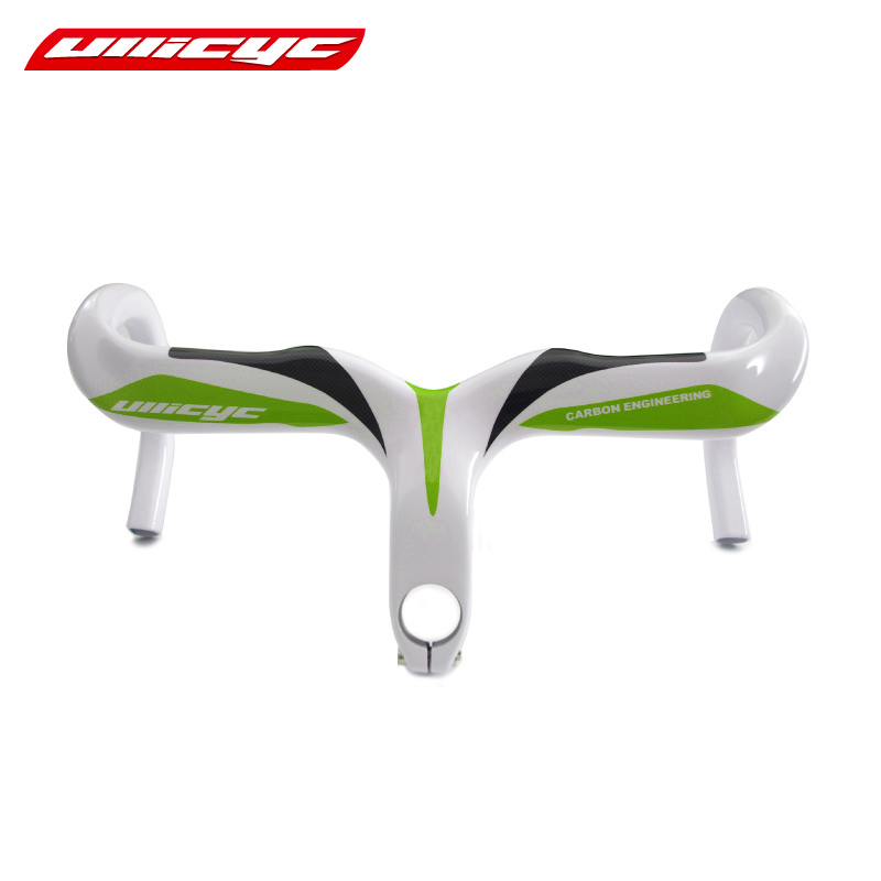 Specials! Full Carbon Fiber Road Bicycle Integrated Handlebar with 31.8mm stem Carbon Road Handlebar Bike Parts specials free shipping txch road bicycle integrated handlebar with stem carbon reach 80mm drop 85mm support computer frame