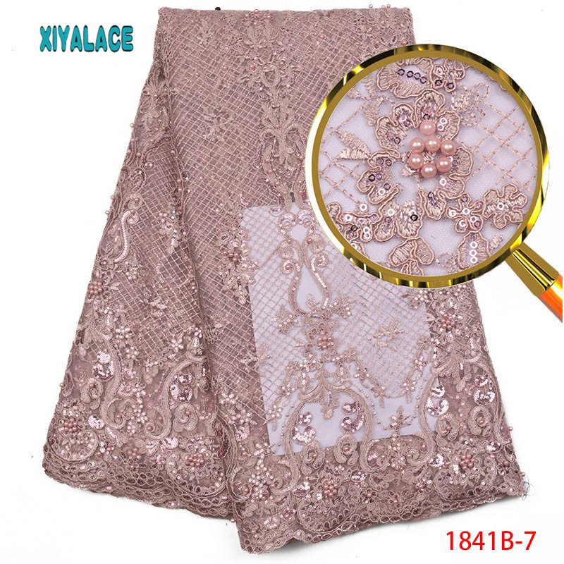 Sequins Lace Fabric High Quality Latest African Lace Fabric Wedding Tulle Lace Fabric French Nigerican With
