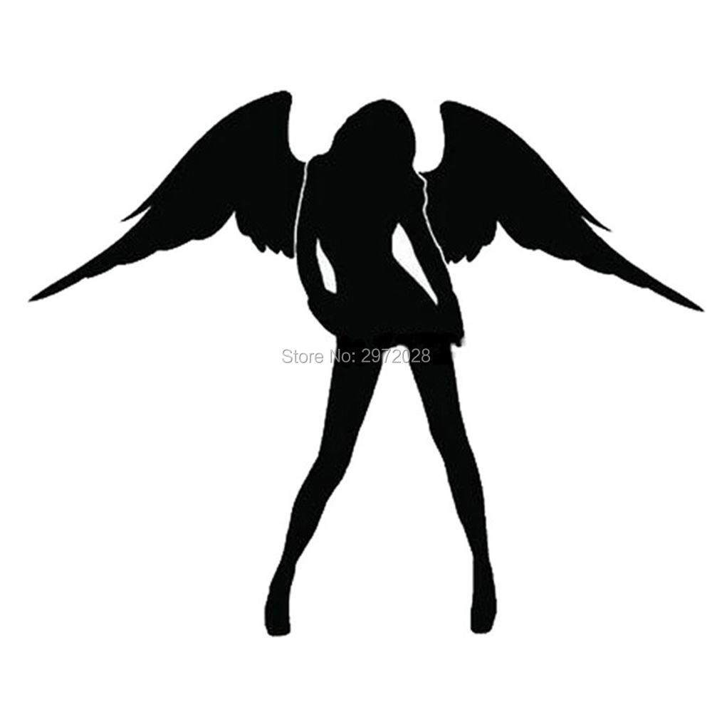 Newest Angel And Evil <font><b>Sexy</b></font> Girl Car Creative <font><b>Accessory</b></font> Decal Cartoon Car Reflective Sticker Body Decal Creative Pattern Vinyl image