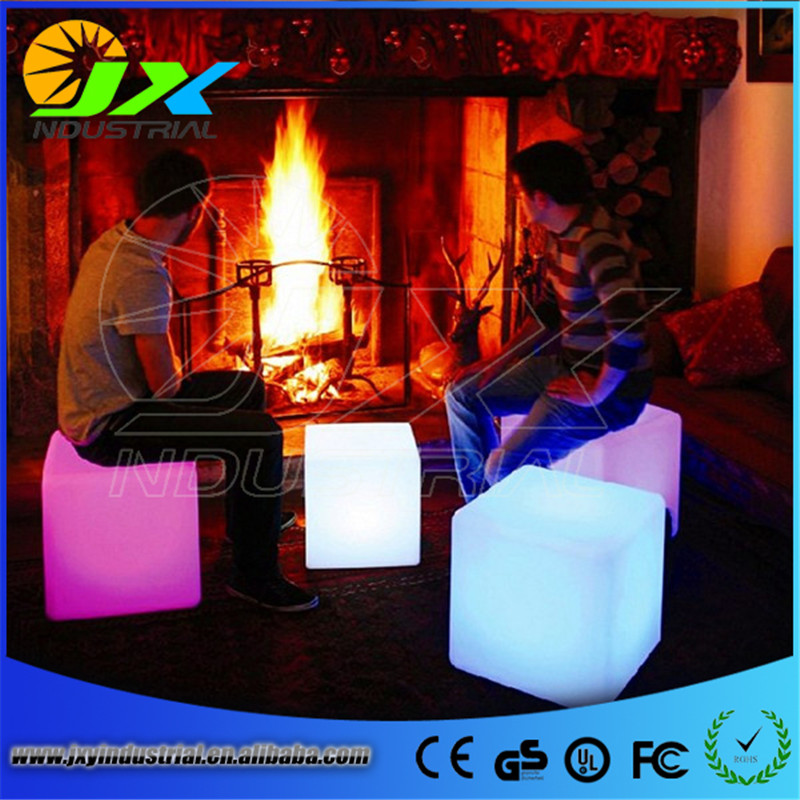 30*30*30CM LED Light Cube Stool Bar Party Event Decoration 16 Color-Changing Night Light Chair LED Seat Free Shipping