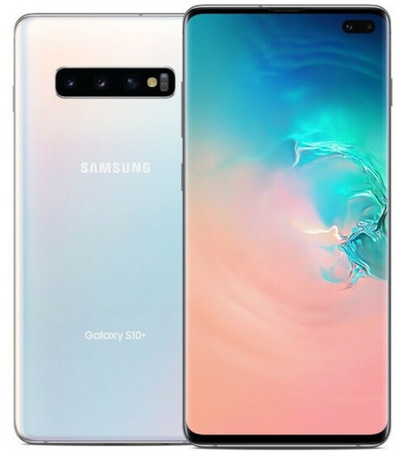 Samsung Galaxy S10+ S10 Plus G975U 8GB RAM 128GB ROM Octa Core 6.4″ 5 Camera Snapdragon 855 NFC 4G LTE Android Cell Phone