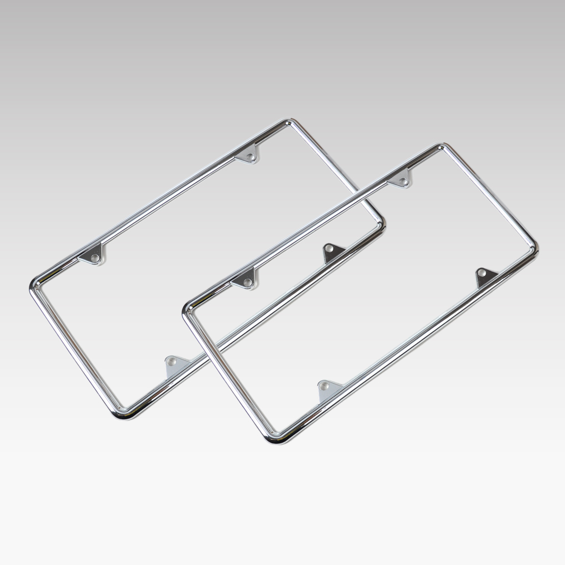 DWCX 2Pcs Universal Car Zinc Alloy License Plate Frame For Mercedes ...