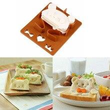 Формочки для бутербродов, милый медведь, форма для лица, резак для хлеба, 3 формы, сделай сам, еда, панда, форма, инструмент для выпечки, безопасный для детей, для завтрака