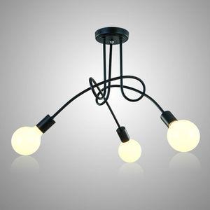 Image 1 - 천장 조명 현대 노르딕 간단한 맞춤형 크리 에이 티브 램프 북유럽 레스토랑 침실 거실 금속 재료 철