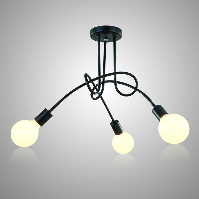 천장 조명 현대 노르딕 간단한 맞춤형 크리 에이 티브 램프 북유럽 레스토랑 침실 거실 금속 재료 철
