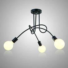 תקרת אור מודרני נורדי פשוט אישית Creative מנורות נורדי מסעדת חדר שינה סלון מתכת חומר ברזל