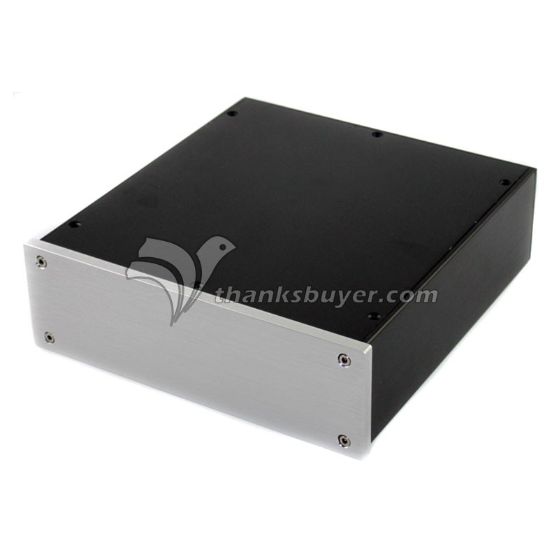 WA35 Aluminum Power Amplifier Enclosure Box Shell DAC Case 230x215x70mm 3206 amplifier aluminum rounded chassis preamplifier dac amp case decoder tube amp enclosure box 320 76 250mm