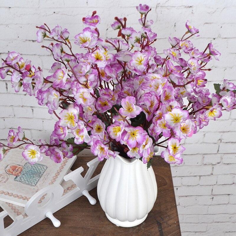 1 Ramo de Ciruela Flor de Seda DIY Cereza Flores Artificiales Barato - Para fiestas y celebraciones
