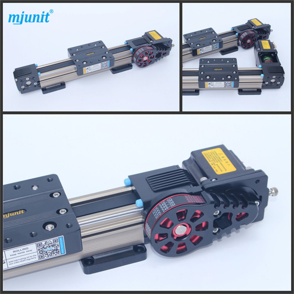 Belt drive linear actuator motion stage slide High speed low vibration belt driven guided linear actuator any travel length linear motion motorized linear stage heavy duty belt driven stage