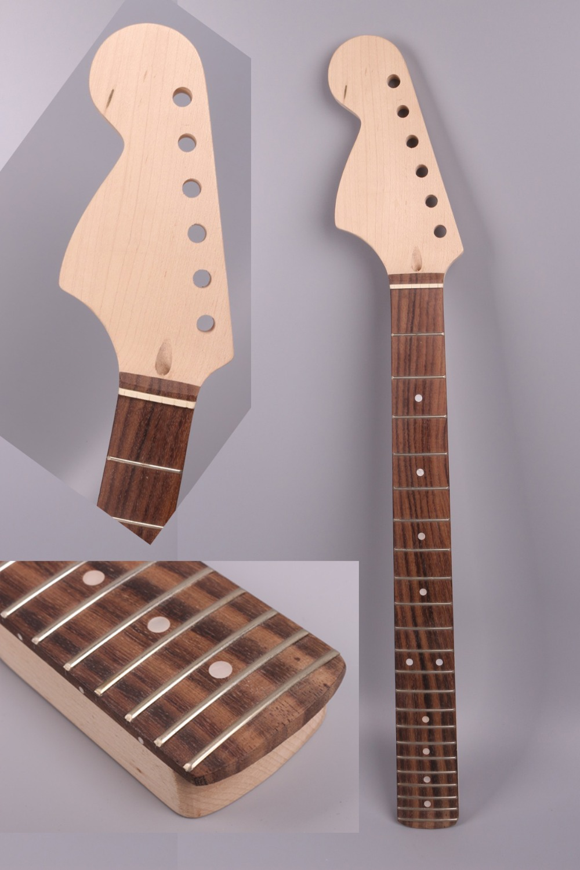Yinfente Strat electric guitar neck replacement 22 fret Reverse Big head rosewood fretboard Dot inlay Maple Neck #25 acoustic guitar neck fingerboard fretboard for guitar parts replacement rosewood zebrawood veneer
