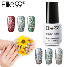 Elite99 Super Bling Nail Art Starry Sky Gel Nail Polish UV LED Glitter Gel Varnish Long Lasting Semi Permanent for Nails