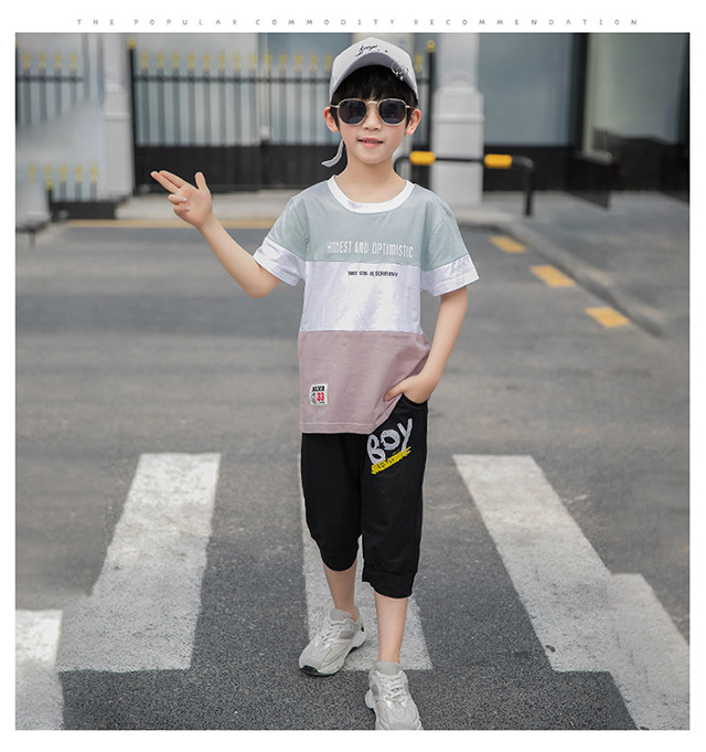 Boys Clothing Sets 2019 Fashion Summer Solid Cotton T-shirts + Pants Kids Boys Suit Casual Style Children Sets Boys Clothing Sets 2019 Fashion Summer Solid Cotton T-shirts + Pants Kids Boys Suit Casual Style Children Sets