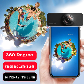 360 Degree Panoramic Camera Lens For iPhone X 7 8 Full View Shot With Clip Cell Phone Len for iPhone 7 8 Plus X резак для щеток стеклоочистителей