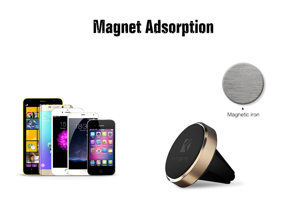 Aluminum Magnetic Car Phone Holder Stand For iPhone 7 6 6S Plus 5S SE For Huawei Xiaomi mi5s (7)