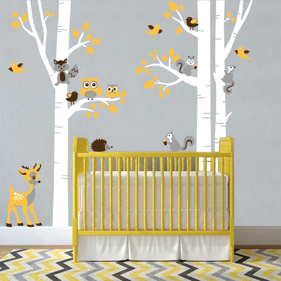Aliexpress.com : Buy Large Birch Trees Animals Owl Squirrel Deer ...