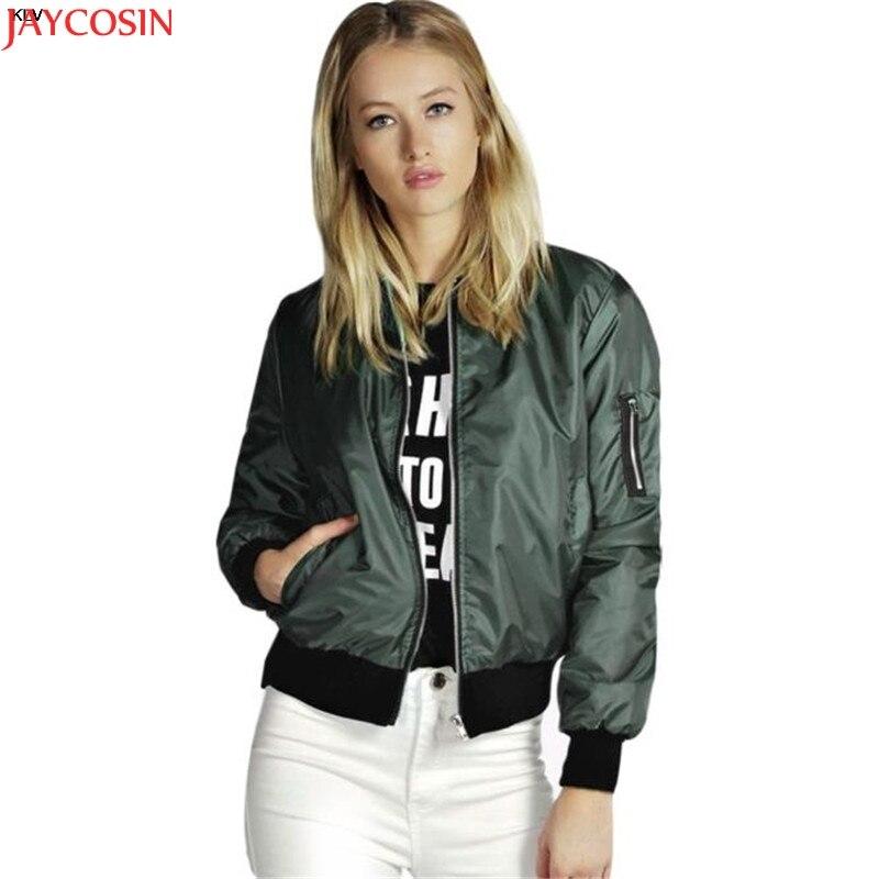 Women Zipper Short Thin Coat Spring Autumn   Basic     Jackets   Casual Outerwear zipper   jacket   women