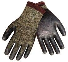 HPPE Safety Gloves Steel Cut Resistant Working Gloves Nitrile Dipped 10 Guage Aramid Fiber Anti Cut Work Gloves цена в Москве и Питере