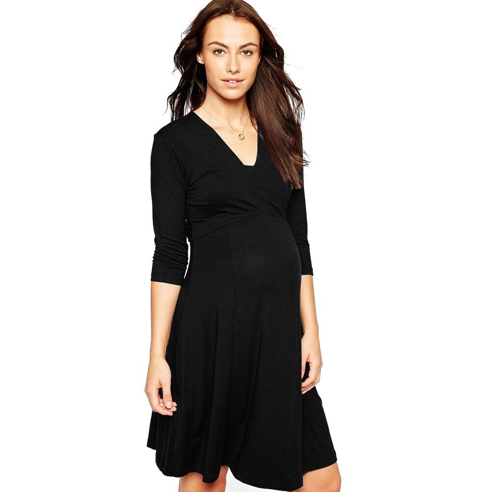 Hi Bloom Summer Maternity Clothing Elegant Lady Dresses 95 Tencel5