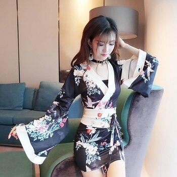 Японские японские кимоны гейши, кимоно для косплея Haori Obi Yukata, японские соблазнительные платья, костюм гейши FF2121