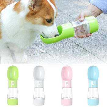 цена на Pet Products Portable Cute Pet Dog Cat Water Bottle Multifunction Travel Drinking Cup Outdoor Pet Dog Cat Food Feeder Bowl