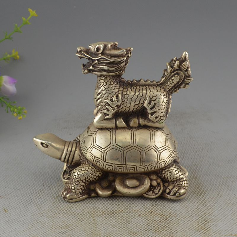 Collection of antique sculpture bronzes copper plated silver lions,exquisite dragon sculptures,high 12cm free shipping