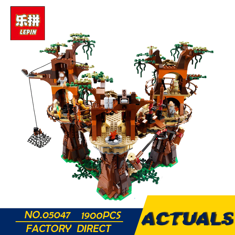 IN STOCK LEPIN 05047 1990pcs Star Ewok Village Wars Building Blocks Juguete para Construir Bricks Toys 10236 Gifts Free shipping cheji team pro team sportswear long sleeve ropa ciclismo cycling jersey bicycle bike mtb cycle clothing 6d padded pants sets