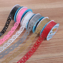 2019 NEW Flower Masking Tape Paper Ribbon Album Decorative Lace Roll Scrapbooking Self Adhesive DIY Crafts Sticker(China)