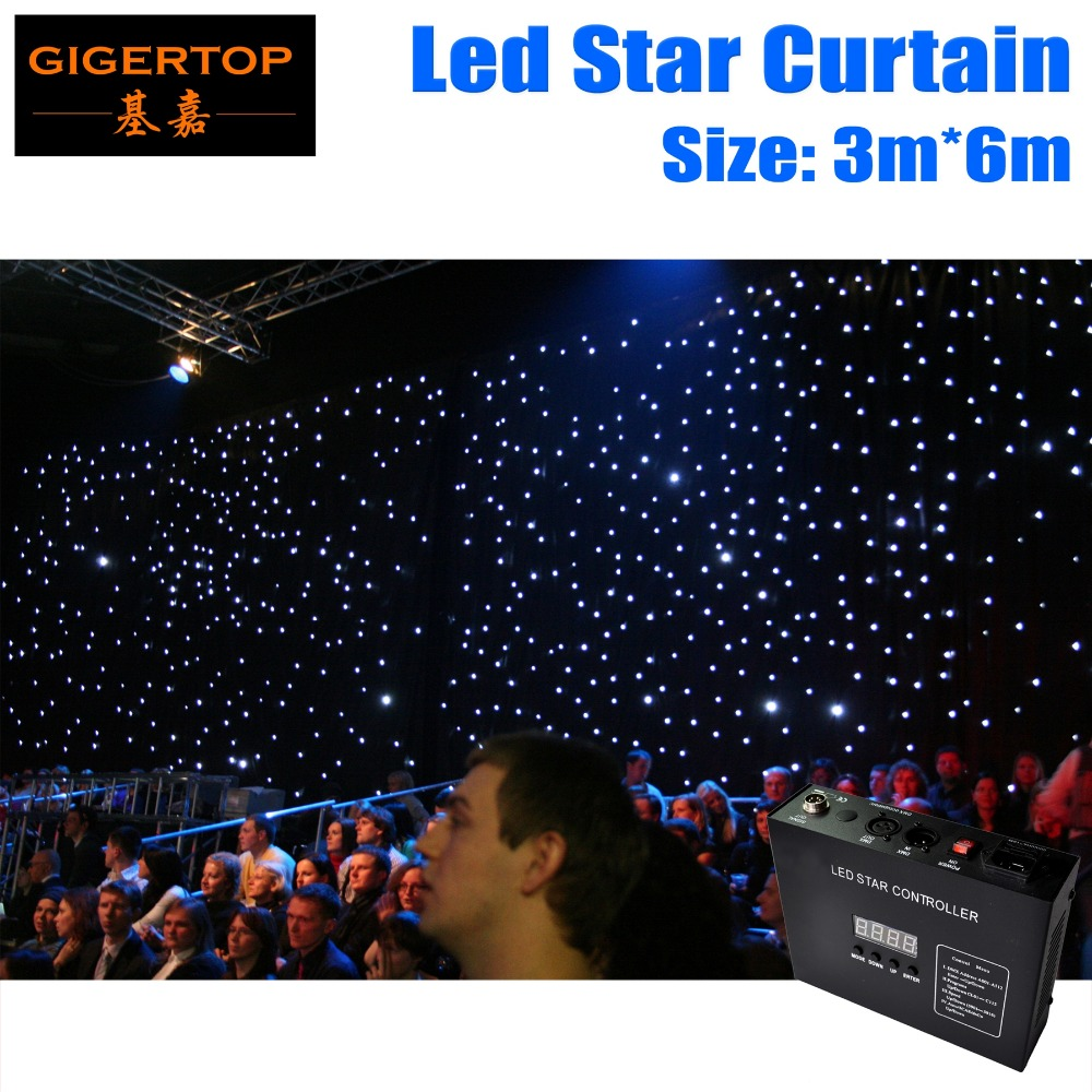 3M*6M High Quality  LED Star Cloth,90V-240V LED Wedding Backdrops LED Single Color Star Cloth With Controller