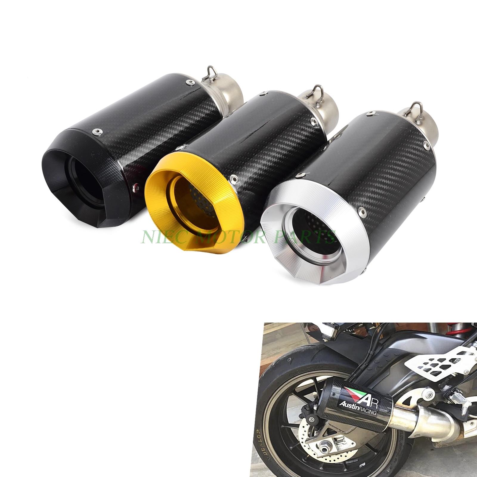 Moto ad alte prestazioni in fibra di carbonio slip-on tubo di scarico Per Moto Motorino ATV Dirt Bike QuadMoto ad alte prestazioni in fibra di carbonio slip-on tubo di scarico Per Moto Motorino ATV Dirt Bike Quad
