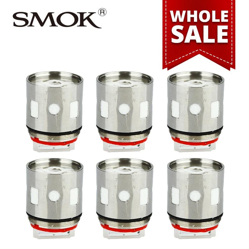 En gros 10/20/50 pièces SMOK V12-T8 Tête De Bobine pour TFV12 Bête Réservoir Atomiseur 0.16ohm Remplacement Octuple bobines e-cigs 3 pcs/pack