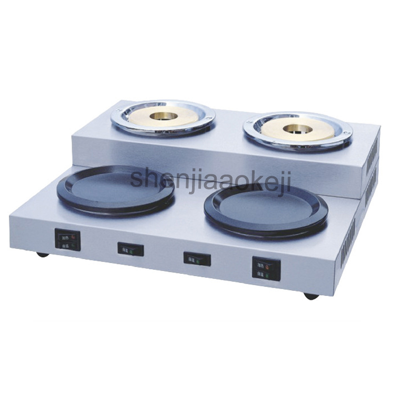 220v Stainless Steel Double pot coffee stove Commercial coffee boil water furnace restaurant cafe insulation heating equipment