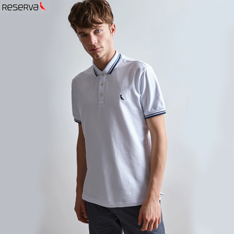 2019 Reserva aramy Men's   Polo   shirt reserved camiseta masculina Short sleeved cotton Breathable comfortable men's clothing