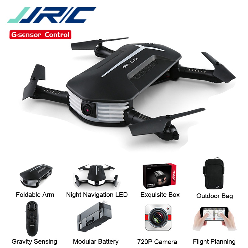JJRC H37 JJR / C Mini Elfie Selfie 720P WIFI FPV w / Mantinimiento de Altitud Modo Sin Cabeza Sensor de Gravedad Drone a Control Remoto Quadcopter Helicóptero Listo para Volar