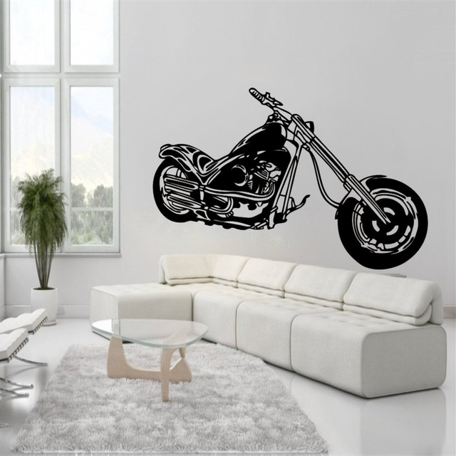 Harley Motorcycle Wall Sticker Decal Harley Motor Enthusiasts Poster