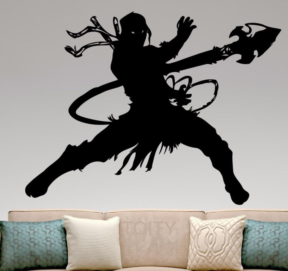 Scorpion silhouette vinyl sticker mortal kombat wall art for Silhouette wall art